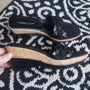 Coldwater Creek wedge shoes